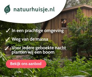 vakantiehuisjes met hond in de natuur banner
